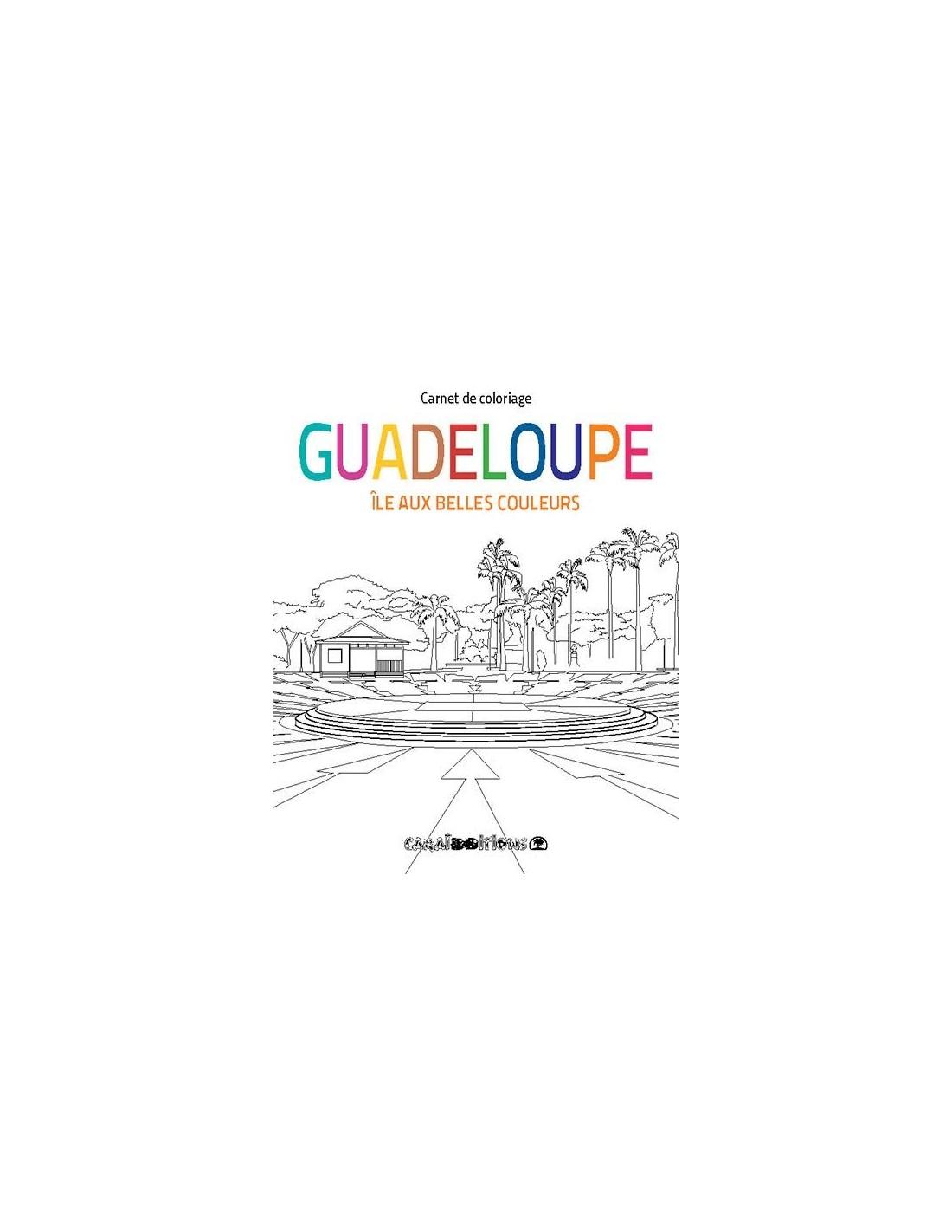 Coloriage De Belles Couleurs.Guadeloupe Ile Aux Belles Couleurs